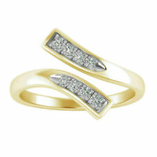 Adjustable Toe Ring 14K Yellow Gold Over 0.40 Ct Round Cut Diamond Channel Set