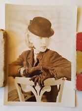 Antique Woman In Hat With Gloves Photograph