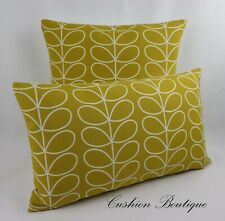 Genuine Orla Kiely Fabric Cushion Cover Dandelion Multi Linear Stems Zipped