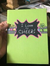 Girls Lime Green Cheerleading Autograph Book Picture Frame Never Used So Cute