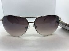 Panama Jack Semi-Rimless Women's Aviator Sunglasses Brown Lens Gold Frame