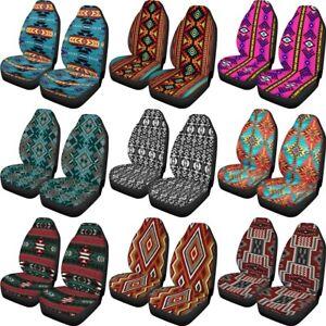 Aztec Native Design  Car Seat Covers Universal Front Driver Seat Protetcor Auto