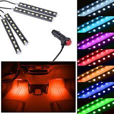 4x 9 LED Cigarette Drive Orange Vehicle Interior Floor Atmosphere Light Strip