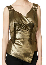 VIVIENNE WESTWOOD WOMENS GOLD BONDAGE WRAP TOP *IT 40/UK 8* BNWT *RRP £305*