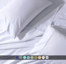 Split Top King- Flex Top King Percale Deep Pocket Bed Sheets Set