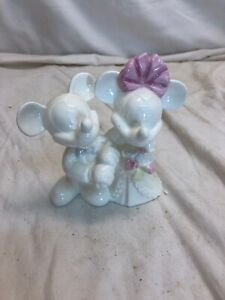 """Rate Vintage Wedgewood China Disney Mickey Minnie Mouse Wedding Cake Topper 5"""""""