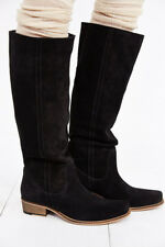 SEYCHELLES SHOES SECRETIVE WESTERN TALL BOOT BLACK SUEDE PULL ON 6.5 $190