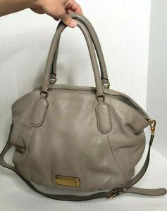 Marc Jacobs Handbag Leather Crossbody Standard Supply Workwear Gray Pebbled