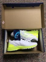 ASICS Dynaflyte 2 Casual Running Shoe White/Safety Yellow/Aruba Blue Women's 7.5