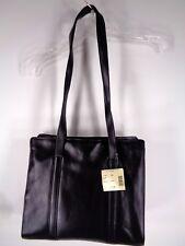 Vintage Cole Haan Haley Small Tote Handbag Purse Black Leather