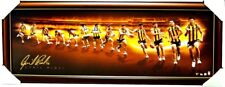 CYRIL RIOLI HAWTHORN SIGNED SPORTS PRINT FRAMED RETIREMENT PLAYER TIME LAPSE