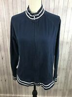 Jones New York Sport Blue Full Zip Women's Lounge Jacket Size XL