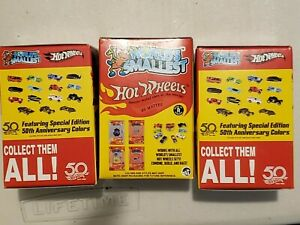 50TH WORLDS Smallest HOT WHEELS KEYCHAIN Cars BLIND Box Lot of 3 BOXES HTF