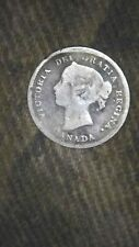 1884 canada 5 cent key date silver coin
