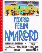 AMARCORD - Federico Fellini  - postcard movie - cartolina cinema