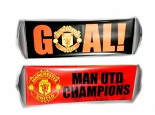 Manchester United Man U Crest Rolling Banner Football Fanbana Goal Red Official