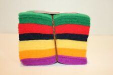 100% wool felt charm square pack classic colors National Nonwovens Fancy Tiger