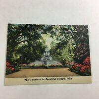"""VINTAGE 1930s Mini Photographs Souvenir Pictures 3.5X2"""" Savannah Forsyth Park"""