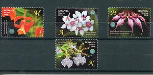 Belarus 2016 MNH Orchids Central Botanical Gardens NAS 4v Set Flowers Flora
