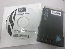 SEH Zebra InterCon PS105-Z 10/100 Ethernet Parallel IPv6 Print Server P1000219