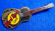 London England Silver Tri Plate Acoustic Guitar Model 35 1Lc Hard Rock Cafe Pin