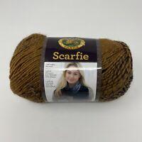 Lion Brand Scarfie Yarn Ochre / Navy 5.3 oz 312 yds 5 Bulky Acrylic/Wool