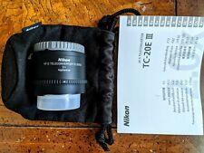Nikon TC-20E 35mm 2x Teleconverter Lens (TC-20E III)