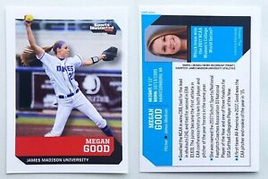 MEGAN GOOD rare 2017 oddball rookie card JAMES MADISON softball SI Kids