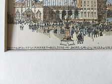 New Market Building, St Louis, Mo, 1896, Louis Mullgardt, Original Hand Colored