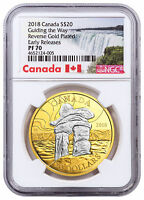 2018 Canada Iconic Inukshuk Guiding Way 1oz Silver Gilt $20 NGC PF70 ER SKU52350
