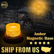 10 LED Car Bus Emergency Warning Strobe Beacon Round Alarm Flash Light 12V Amber