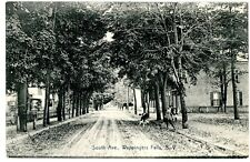 Wappingers Falls NY -VIEW DOWN SOUTH AVENUE- Postcard Dutchess County/Route 9D