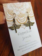 Dragonfly Bronze Earrings Festival Harmony Womens ♡ Animal Jewellery NatureLover