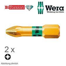 Wera 2 x Diamant Kreuzschlitz Bit 855/1 BDC PZ 2 x 25 mm