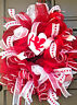 Handmade Valentine Wreath Red White Cupid Deco Mesh Wall & Door Decor