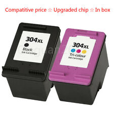 2 Ink Cartridges HP304XL 304 for DeskJet 3720 3730 3732 3735 2620 2630 ENVY 5020