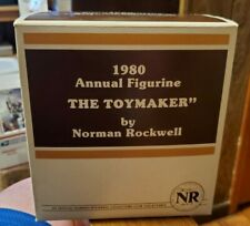 Vtg Norman Rockwell Collectors Club 1980 Annual Figurine The Toy Maker In Box