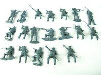 Vintage MPC Toy Soldiers Lot 19 Miniature Plastic Blue Civil War Union