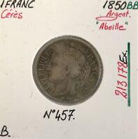 1 FRANC CERES - 1850BB - Pièce de monnaie en Argent // B