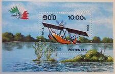 Laos  1985 Aircraft Mini Sheet(Italia 85). MNH.