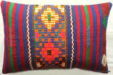 (40*60cm, 16*24cm) Textured handmade pillow cover cobalt blue green orange