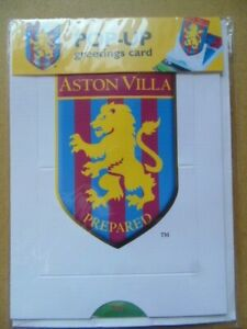 ASTON VILLA  POP - UP GREETINGS CARD - BLANK