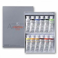 Acrylic Colour Paint Shinhan Professional A 12 Colours 50ml Tube Artist Drawing