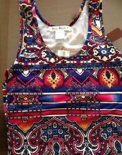SAY WHAT Vibrant And Rich Color Tank Top Shirt Sleeveless Size Small NEW @LOOK@