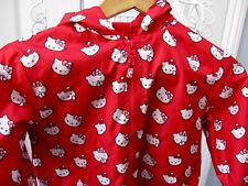 HELLO KITTY Red Rain Coat Cagoule Jacket Mac Coat Cat Raincoat age 3 - 4 cute