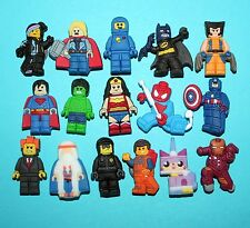 Lego Movie Cake Toppers 16 Cupcake Decorations Party Favours Toys Shoe Charm NEW