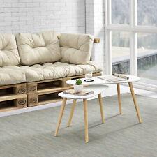 B-WARE Couchtisch Set 2-tlg. Beistelltisch Beistell Tisch Wohnzimmer Weiß