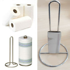 Kitchen Towel Roll Tissue Paper Holder Chrome Steel Stand Towel Rack Stainless