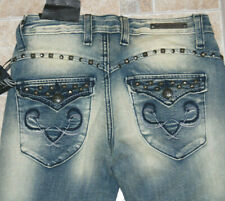NWT Rerock jeans legging 0 flap pocket studs Express stretch distressed faded