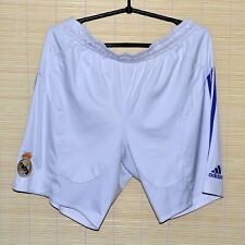 REAL MADRID 2007/2008 HOME FOOTBALL SHORTS JERSEY ADIDAS SIZE L ADULT